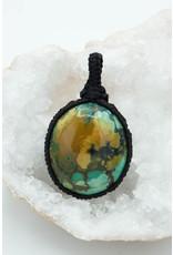 Pendentif macramé Turquoise