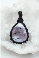 Pendentif macramé Opale Dendritique