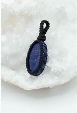 Pendentif macramé Lapis Lazuli