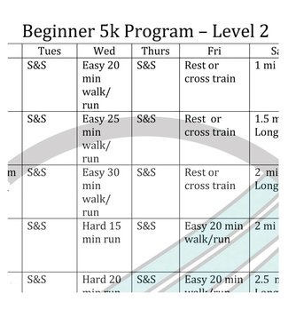 RUNdetroit Training Plan: 5K Beginner II (plan only)