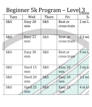 RUNdetroit Training Plan: 5K Beginner III (plan only)