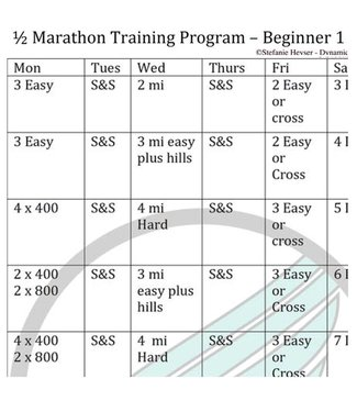RUNdetroit Training Plan: Half Marathon Beginner I (plan only)