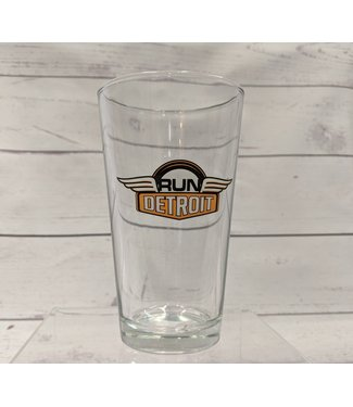 RUNdetroit Pint Glass RUNdetroit