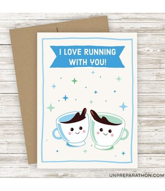 Unpreparathon Coffee Run Greeting Card