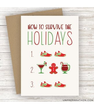 Unpreparathon Surviving the Holidays Greeting Card