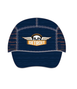RUNdetroit Technical/Wicking Run Hat Navy