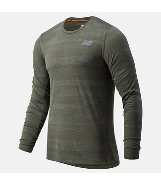 New Balance Men's Q Speed Fuel Jaquard Long Sleeve