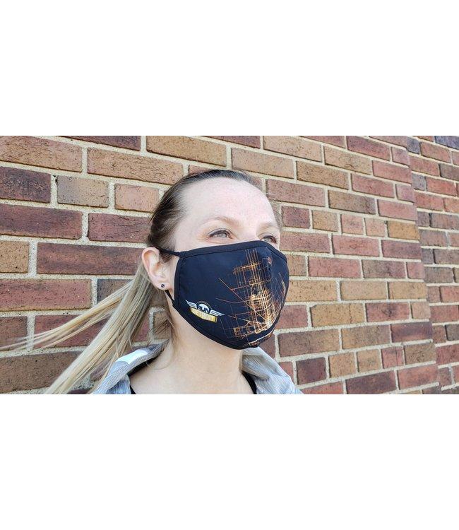 RUNdetroit Face Mask
