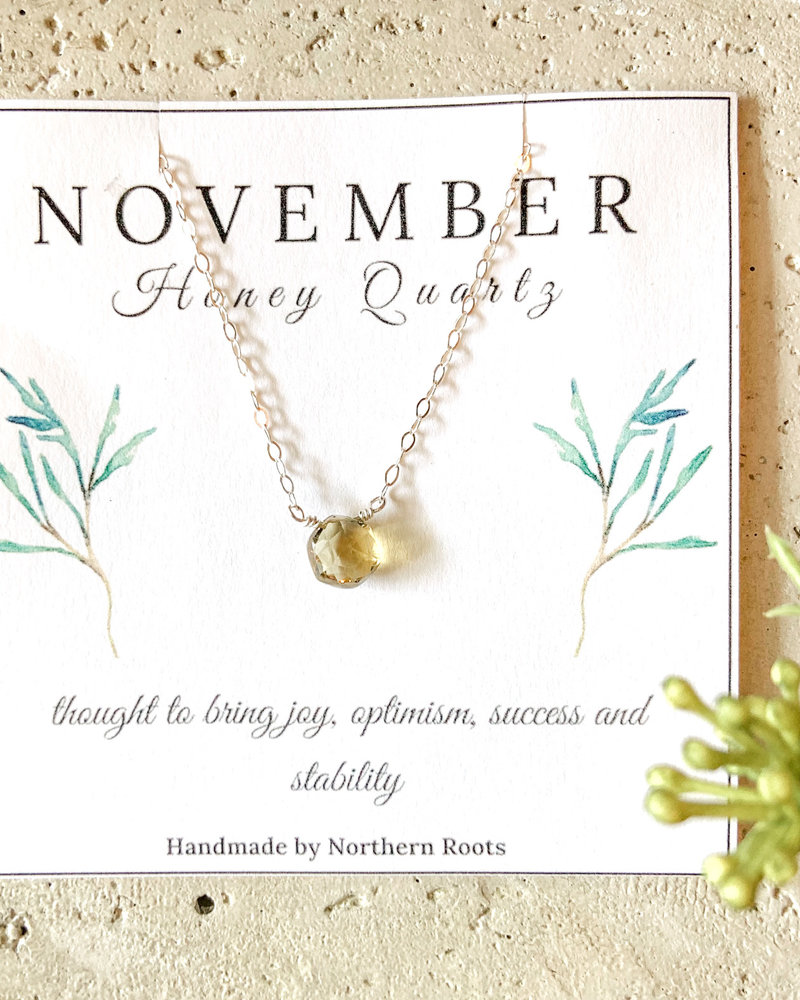 Northern Roots Birthstone Necklace