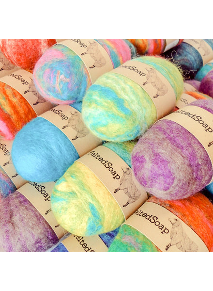 Twisted Purl Felted Soap