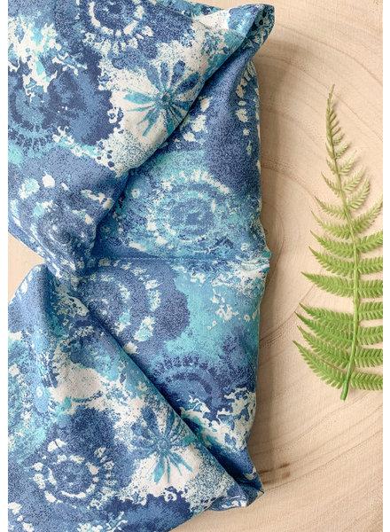 Aromatherapy Shoulder Wrap Blue Tie Dye Eucalyptus & Peppermint