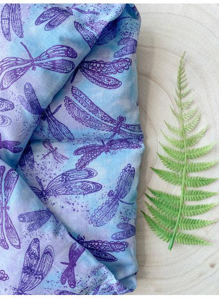 Aromatherapy Shoulder Wrap Purple Dragonfly Eucalyptus & Peppermint
