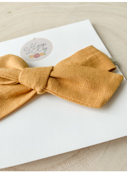 Hoop and Kay-Kasey Lombardo Hair bow headband Mustard