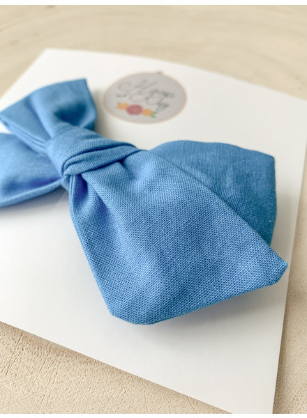 Hoop and Kay-Kasey Lombardo Hair Bow Clip Blue