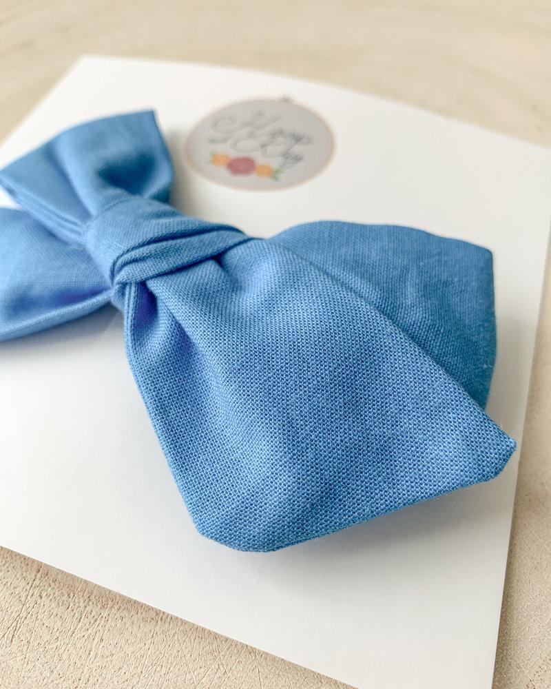 Hoop and Kay-Kasey Lombardo Hair Bow Clip Blue