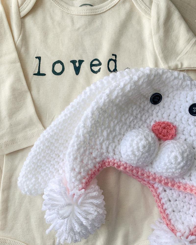 Handmade Bunny Hat White