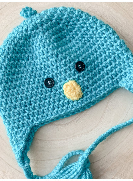 Handmade Chick Hat Blue