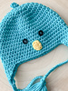 Handmade Chick Hat Blue