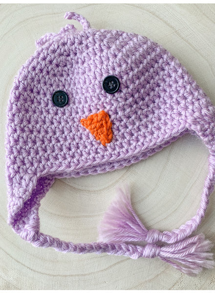 Handmade Chick Hat Purple