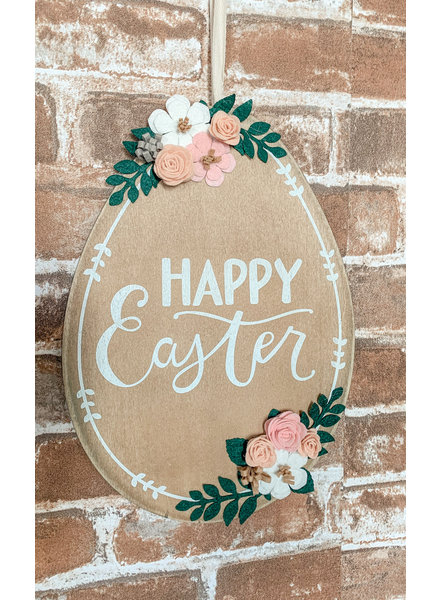Primatives By Kathy Happy Easter Egg Wall Hanging