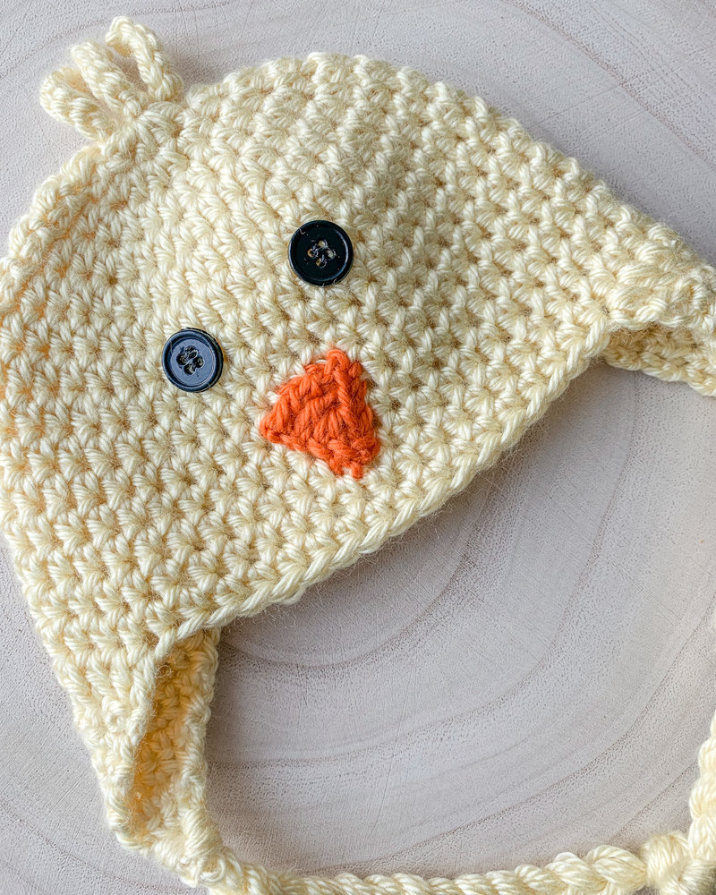 Handmade Chick Hat Yellow