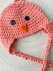 Handmade Chick Hat Pink