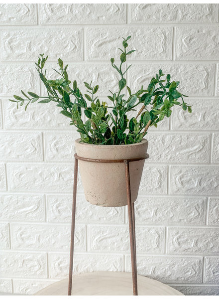 Mud Pie Clay Pot Wire Short Stand