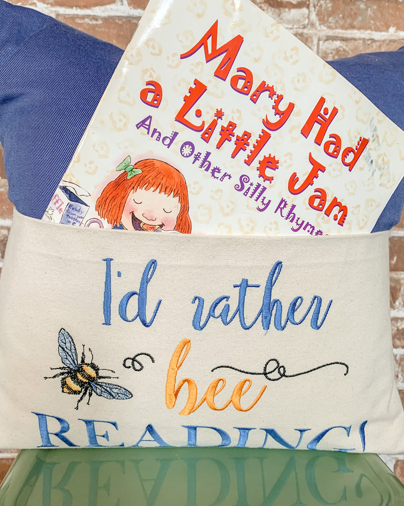 I'd Rather Bee Reading Pillow