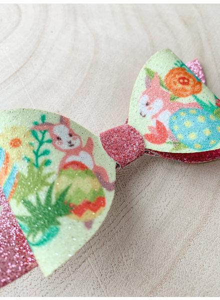 Bunnies And Eggs Bow Clip