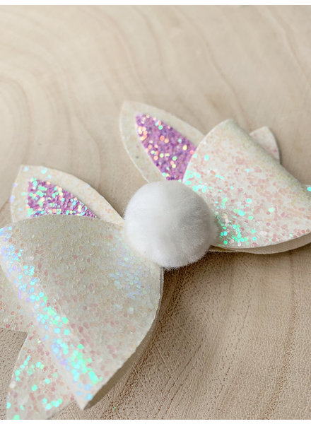 Bunny Ears And Tail Bow Clip