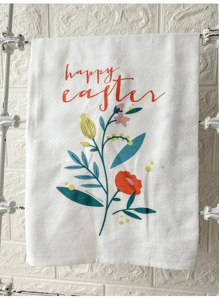 Potluck Press Happy Easter Floral Spring Towel
