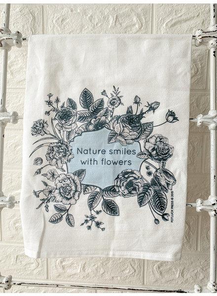Potluck Press Nature Smiles Towel