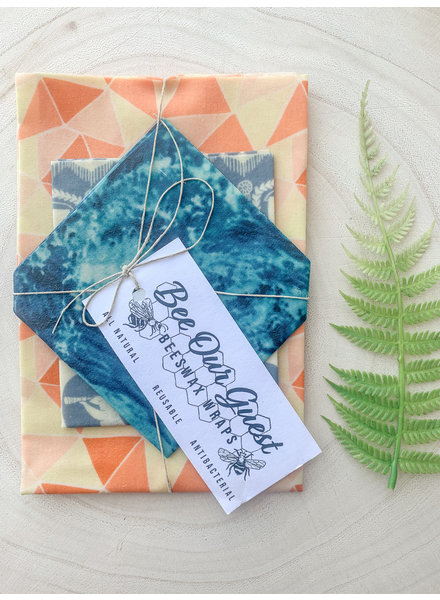 Bee Our Guest Beeswax Wraps Orange Zest 3 Pack