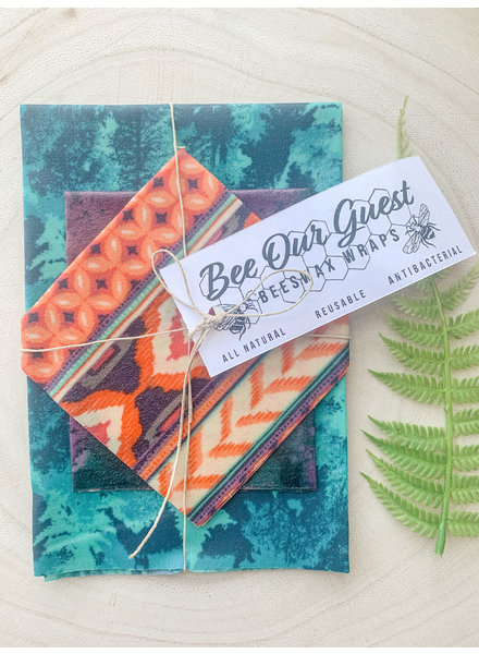 Bee Our Guest Beeswax Wraps Ikat 3 Pack