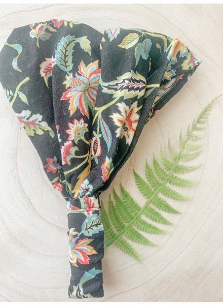 Headband Black Floral