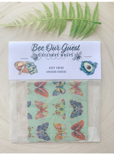 Bee Our Guest Beeswax Wrap Single Butterfly