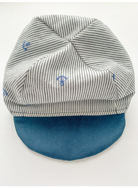 Oweee Baby Boys Reversible Cap Anchor