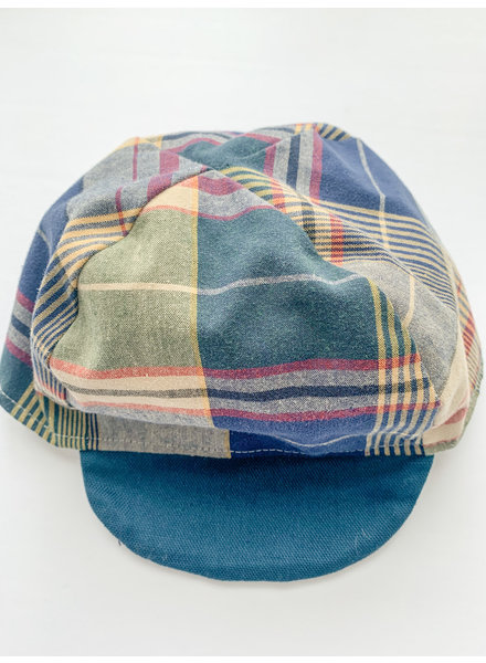Oweee Baby Boys Reversible Cap Plaid