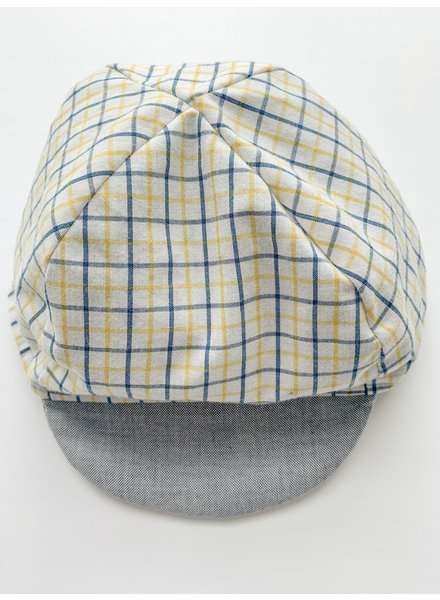 Oweee Baby Boys Reversible Cap Yellow Plaid