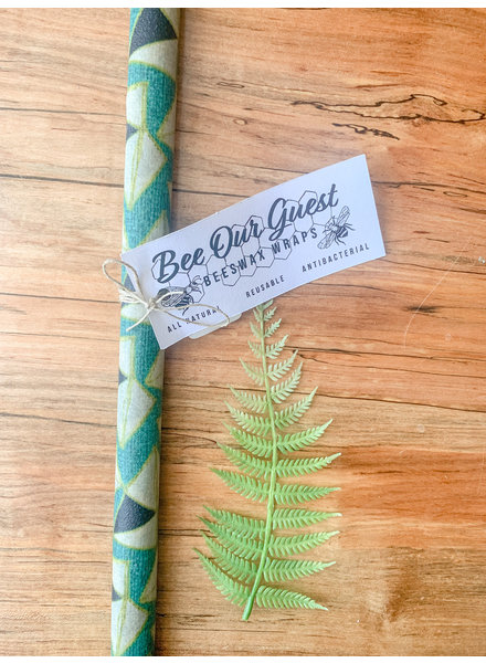Bee Our Guest Beeswax Wrap Extra Large Roll Blue Geometric