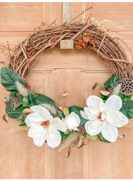 Julie Boyd Handmade Magnolia Wreath