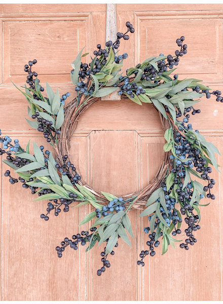 Primatives By Kathy Blueberry Wreath