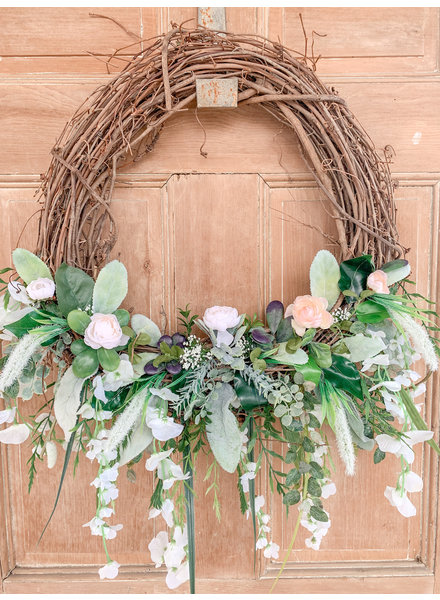 Julie Boyd Handmade Twig Peony Wreath
