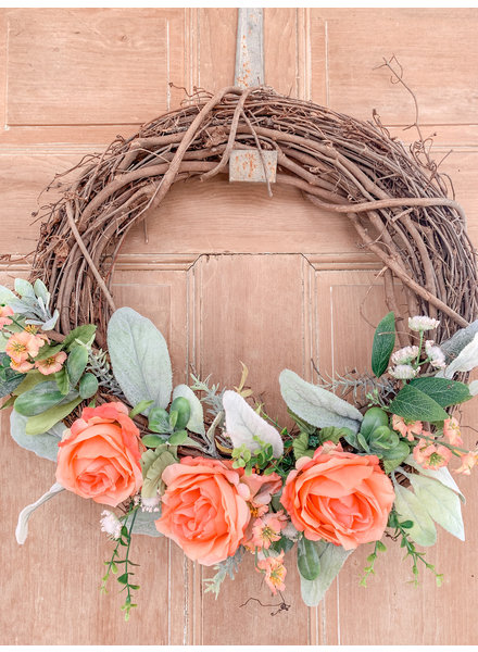 Balsam and Willow by Julie Handmade Twig Coral Wreath
