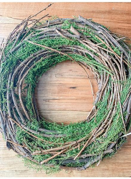 Primatives By Kathy Sweet Annie Moss Twig Wreath
