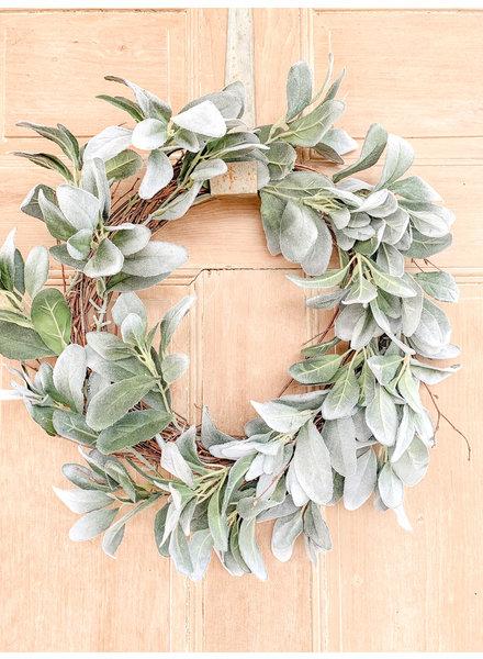 Primatives By Kathy Lambs Ear Wreath