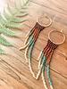 Vella Creative Handmade Angel Wings Beaded Earrings Mint