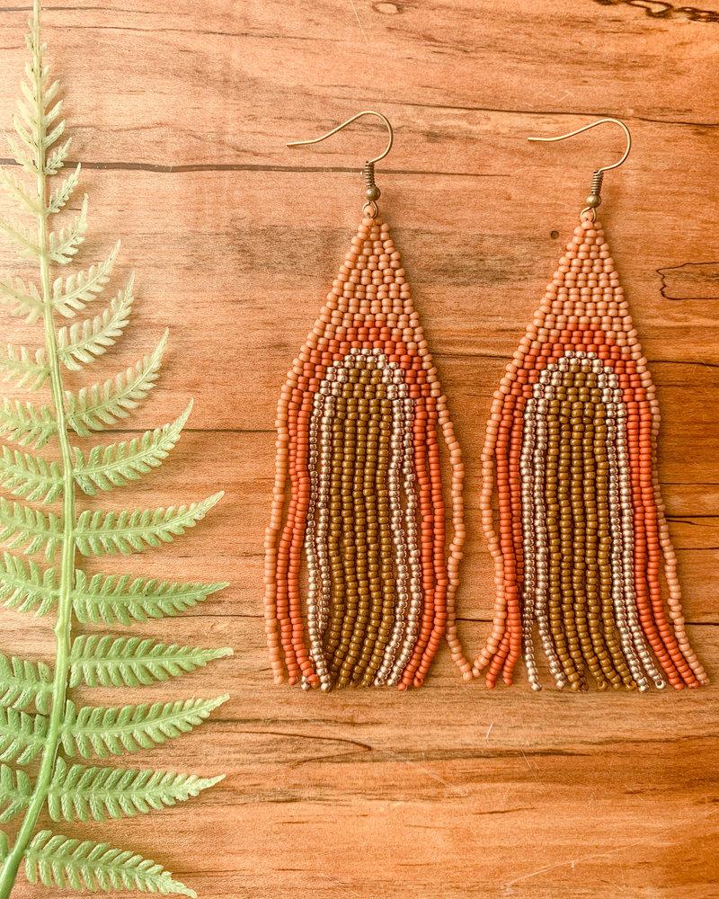 Vella Creative Handmade Rainbow Beaded Earrings