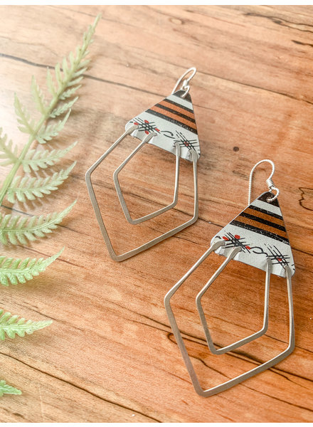 Saffron Creations Deco Ray Earrings Stripe