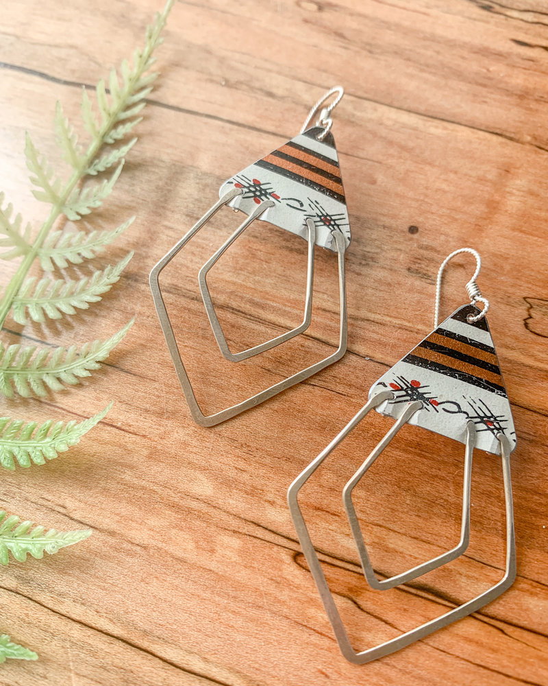 Saffron Creations Deco Ray Earrings Stripe